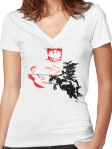 Polish Hussar Women's Fitted V-Neck T-Shirt
