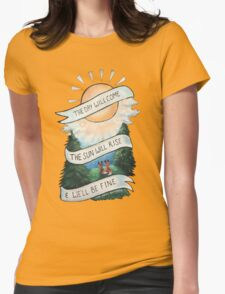 Please Pardon Yourself by the Avett Brothers Design Womens Fitted T-Shirt