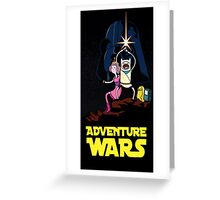 adventure time finn and jake starwars Greeting Card