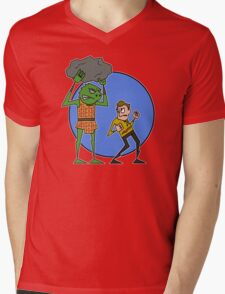 Kirk v Gorn Mens V-Neck T-Shirt