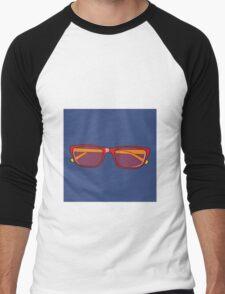 Pop Art Glasses Men's Baseball ¾ T-Shirt