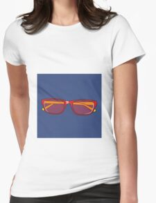 Pop Art Glasses Womens Fitted T-Shirt
