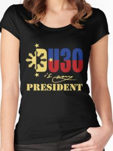 du 30 is my president  Women's Fitted Scoop T-Shirt