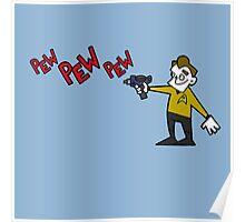 Pew Pew Kirk Poster