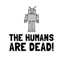 Robot Humans Dead Photographic Print