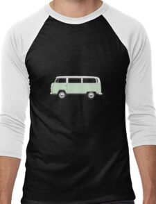 Tin Top Early Bay standard pale green and white Men's Baseball ¾ T-Shirt