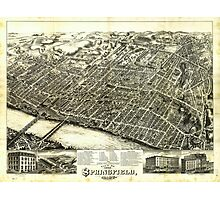 View of Springfield Massachusetts (1875) Photographic Print