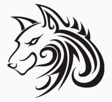 Wolf Tattoo Tribal Kids Tee