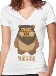 Yubnub! Women's Fitted V-Neck T-Shirt