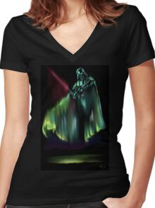 Dark Light Women's Fitted V-Neck T-Shirt
