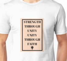 Strength Through Unity Unity Through Faith V for Vendetta Unisex T-Shirt