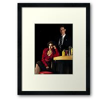 Audrey Horne and her Special Agent. Framed Print