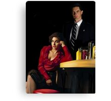 Audrey Horne and her Special Agent. Canvas Print