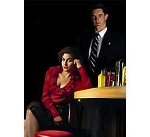Audrey Horne and her Special Agent. Photographic Print