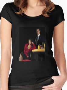 Audrey Horne and her Special Agent. Women's Fitted Scoop T-Shirt