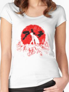 Red Sun Women's Fitted Scoop T-Shirt