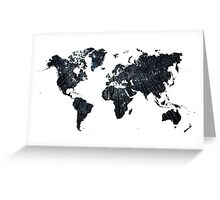 Forests at Night - World Map Greeting Card