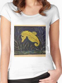 The Baby Seahorse Women's Fitted Scoop T-Shirt