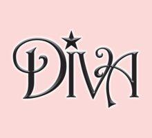 DIVA, celebrated female singer,  One Piece - Short Sleeve