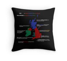 UK infographic Throw Pillow