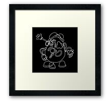 You Uncultured Swine (White on Black) Framed Print