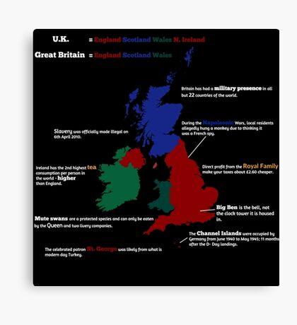 UK infographic Canvas Print