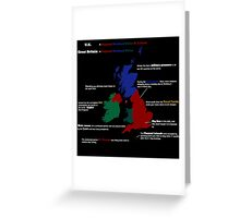 UK infographic Greeting Card