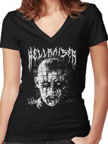 Black Metal Pinhead Women's Fitted V-Neck T-Shirt