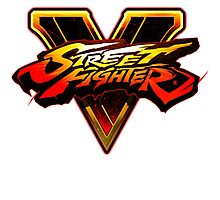 STREET FIGHTER 5 LOGO USTR Photographic Print