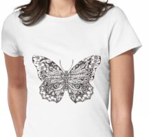Decorative Butterfly Womens Fitted T-Shirt