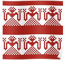 Knitted design pattern. Russian traditional motive. Poster
