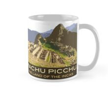 Machu Picchu Souvenir Mug in style of Vintage Travel Poster Mug