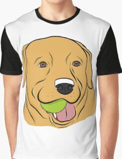 Yellow Lab with Ball Graphic T-Shirt