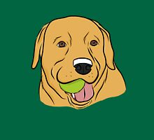 Yellow Lab with Ball Unisex T-Shirt