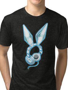 White Rabbit Earphones Tri-blend T-Shirt