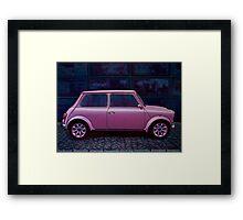 Austin Mini Cooper Painting Framed Print