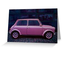 Austin Mini Cooper Painting Greeting Card