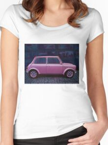 Austin Mini Cooper Painting Women's Fitted Scoop T-Shirt