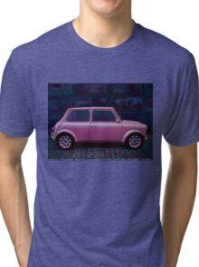 Austin Mini Cooper Painting Tri-blend T-Shirt