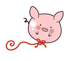 Pig Balloon Photographic Print