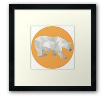 Polyart - Polar Bear Framed Print