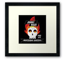 Johnny Blaze Professional Daredevil Framed Print