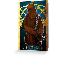 Justice Tarot Greeting Card
