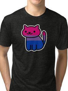 Neko Pride: Bisexual Tri-blend T-Shirt