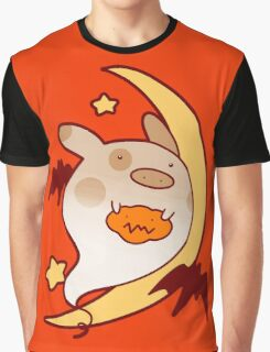 Halloween Ghost Pig Graphic T-Shirt