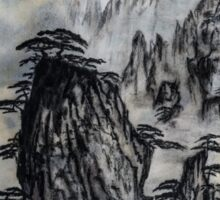 Deep in the Mountains - Famous Japanese Tanka Poetry and Painting Sticker