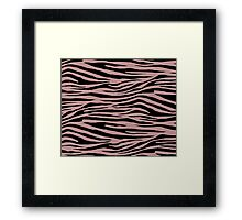 0592 Rosy Brown Tiger Framed Print
