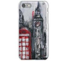 London Red Phone Box iPhone Case/Skin