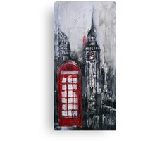 London Red Phone Box Canvas Print