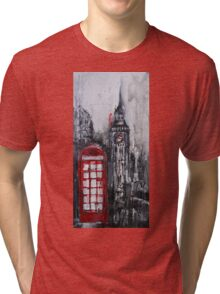 London Red Phone Box Tri-blend T-Shirt